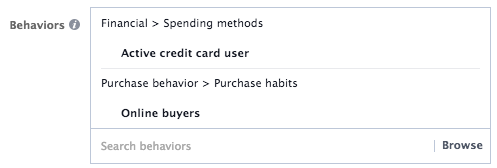Behavior Targeting Box for Finance and Spending